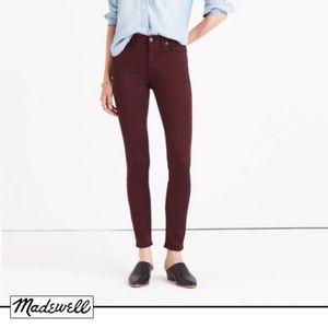 "Madewell Jeans   9"" High Riser Skinny Sateen"